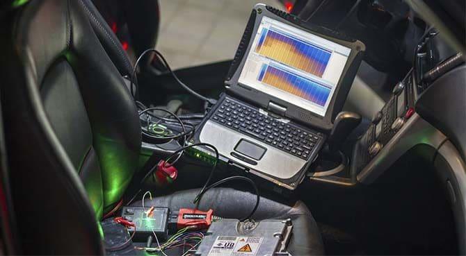 Подключение компьютера к автомобилю