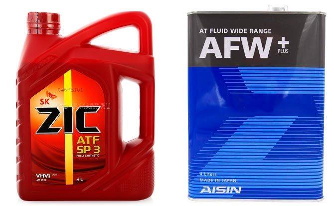 ZIC ATF SP III Aisin ATF AFW+