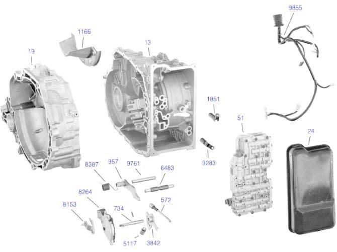 Элементы АКПП ZF 4HP16