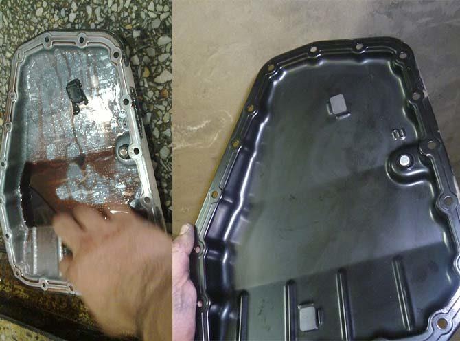 Промывка поддона АКПП Suzuki SX4